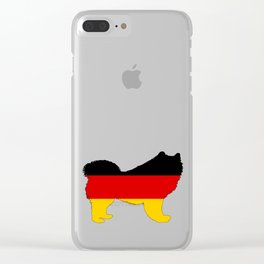 German Flag - Samoyed Clear iPhone Case
