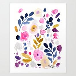 Pink Affair Floral Art Print