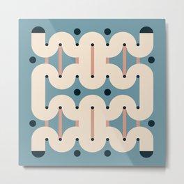 Tubular tile Metal Print