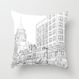 Hollywood And Highland Throw Pillow