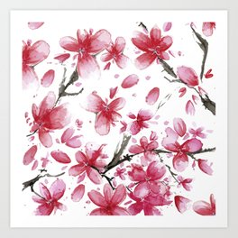 Cherry Blossoms #society6 #buyart Art Print