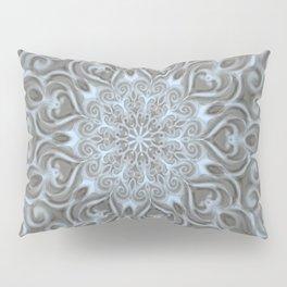 Light Blue Center Swirl Mandala Pillow Sham