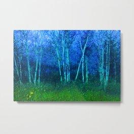Tapestry of Birch Trees Metal Print