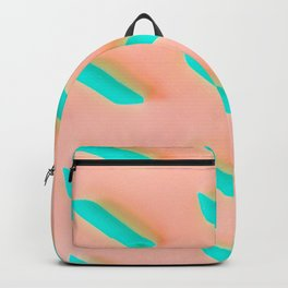 Neon Abstract Pasta Noodles Pattern (Color) Backpack