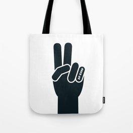 Peace Sign, Do Good B&W Tote Bag