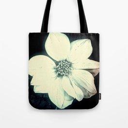 White Dahlia, Christmas Star Tote Bag