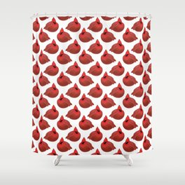 After Christmas cardinal bird Shower Curtain