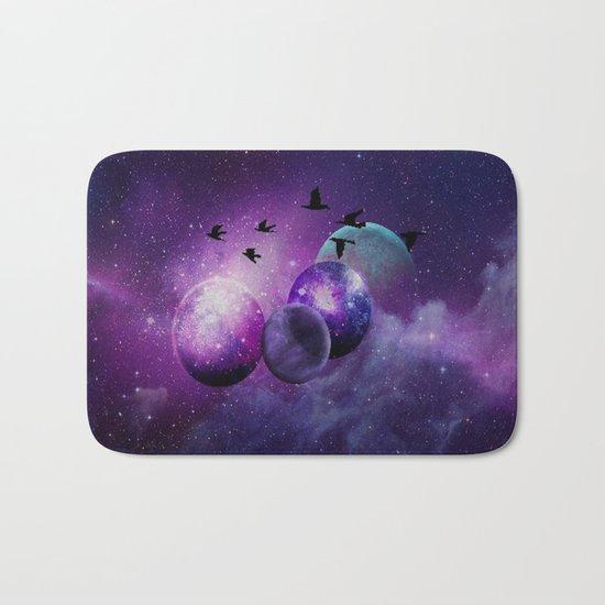 Space birds Bath Mat