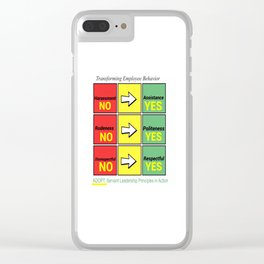 Stop Workplace Bullying Project: Employee Behavior Clear iPhone Case