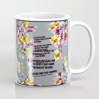warrior Mugs featuring warrior by gasponce