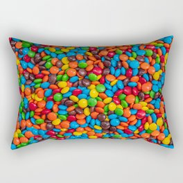Colorful Candy-Coated Chocolate Pattern Rectangular Pillow