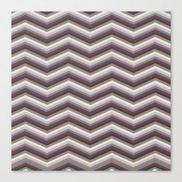 Geometrical ivory gray purple modern chevron Canvas Print