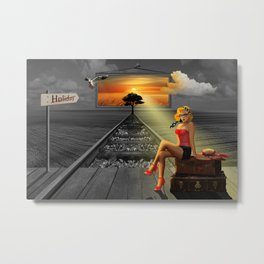Longing for holidays and sun Metal Print