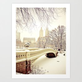 New York City Snow Wonderland Art Print