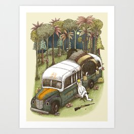 Into The Wild Things Art Print