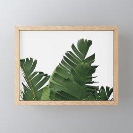Minimal Banana Leaves Framed Mini Art Print