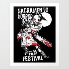 Slashy 2018 Sacramento Horror Film Festival mascot Art Print