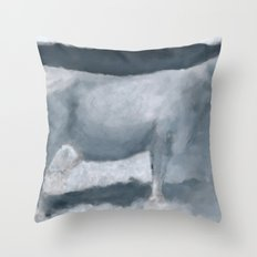 Impressions of a Brown Swiss Throw Pillow