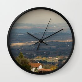 Sunset Italian countryside landscape view Wall Clock