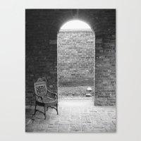 edgar allen poe Canvas Prints featuring Edgar Allen Poe Musem by OBwan