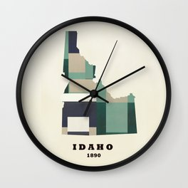 idaho state map modern  Wall Clock