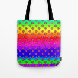 Rainbow and pink flowers Tote Bag