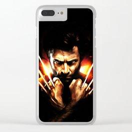 Hugh Jackman - Celebrity Art (Action Movie Art) Clear iPhone Case