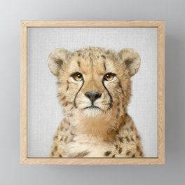 Cheetah - Colorful Framed Mini Art Print