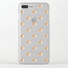 Watercolor Corgi Clear iPhone Case