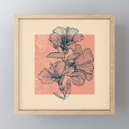 Hibiscus Colors Framed Mini Art Print