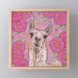 Perfectly Pink Llama Framed Mini Art Print
