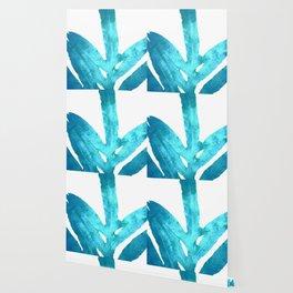 Ocean Blue Fern Wallpaper
