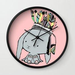 Indian Bunnie Wall Clock