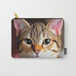 Artistic Tabby Cat Kitten Portrait Carry-All Pouch