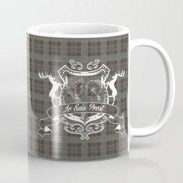 Outlander plaid with Je Suis Prest crest Coffee Mug