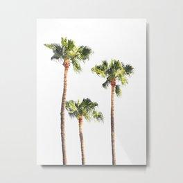 Minimal Palm Trees Threesome Metal Print
