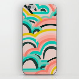 mostly cloudy iPhone Skin