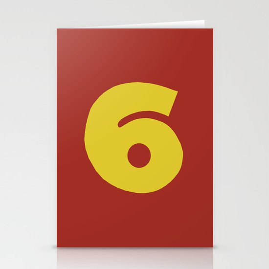 Number 6 Stationery Cards