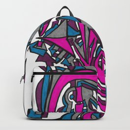 A New Route Street Art Abstract Graffiti Style Drawing Backpack