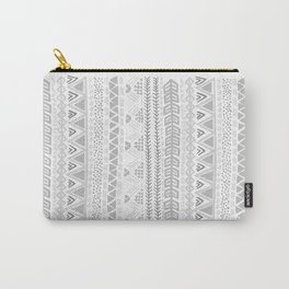 Grey aztec pattern Carry-All Pouch