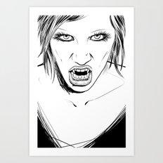 Vampire Lady Art Print