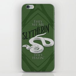 They See Me Slytherin iPhone Skin