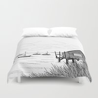 wind Duvet Covers featuring Wind by Aleksandra Kabakova