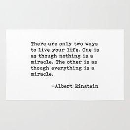 Albert Eintein Quote Rug