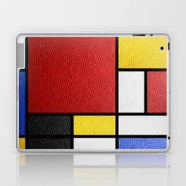 Mondrian in a Leather-Style Laptop & iPad Skin