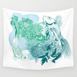 Fishy Dancers Wall Tapestry