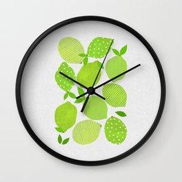 Lime Crowd Wall Clock