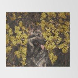 Shepherds love the spring Throw Blanket