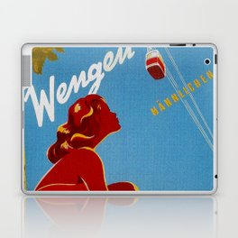 Wengen Switzerland - Vintage Travel Laptop & iPad Skin