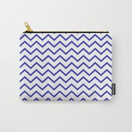 Zigzagged (Navy & White Pattern) Carry-All Pouch